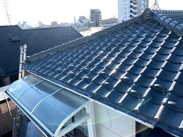 東京都杉並区 棟部分の瓦の取り直し工事 (2)