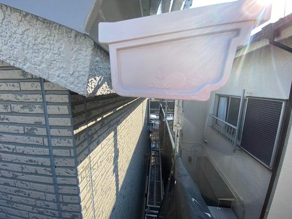 東京都杉並区 雨樋交換 水切りの設置工事