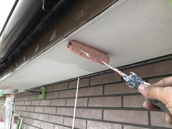 東京都杉並区 外壁塗装工事 軒天塗装 (2)