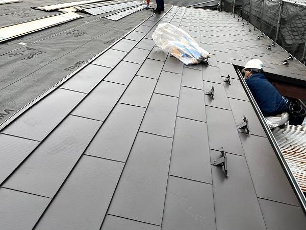 東京都杉並区 屋根葺き替え工事 棟板金取り付け 漆喰補強 (1)