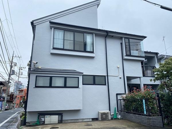 東京都世田谷区 外壁塗装・屋根塗装・防水工事 付帯部塗装 完工 定期訪問サポート (4)