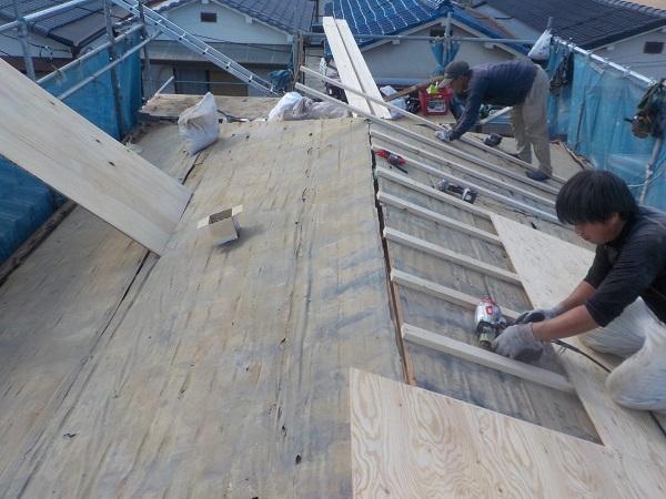 東京都杉並区 屋根葺き替え工事 ガルバリウム鋼板 (4)