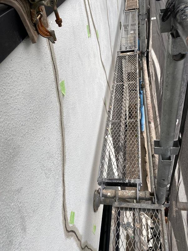 東京都世田谷区 外壁塗装・屋根塗装・防水工事 外壁のクラック、剥がれ (2)