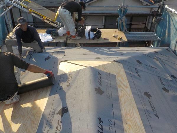 東京都杉並区 屋根葺き替え工事 ガルバリウム鋼板 (5)