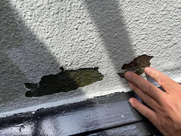 東京都世田谷区 外壁塗装・屋根塗装・防水工事 外壁のクラック、剥がれ (1)