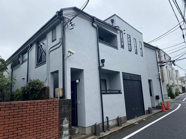 東京都世田谷区 外壁塗装・屋根塗装・防水工事 付帯部塗装 完工 定期訪問サポート (2)