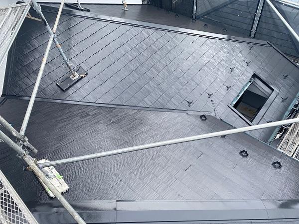 東京都世田谷区 外壁塗装・屋根塗装・防水工事 付帯部塗装 日本ペイント 遮熱塗料 サーモアイ (2)