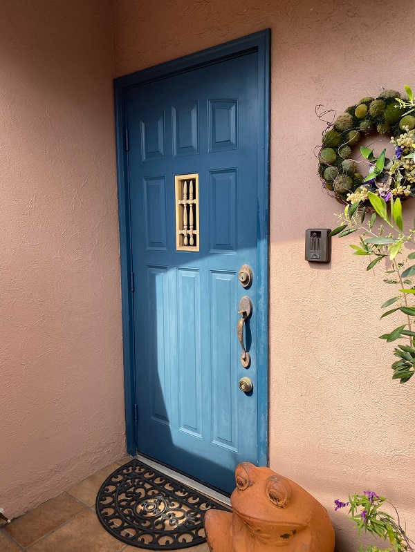 東京都世田谷区 外壁塗装・屋根葺き替え工事・付帯部塗装 玄関ドア (2)
