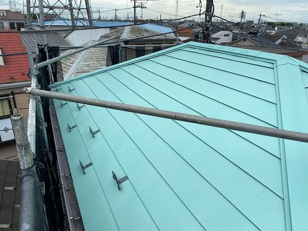 東京都杉並区 屋根葺き替え工事 ガルバリウム鋼板 定期訪問サポート (3)