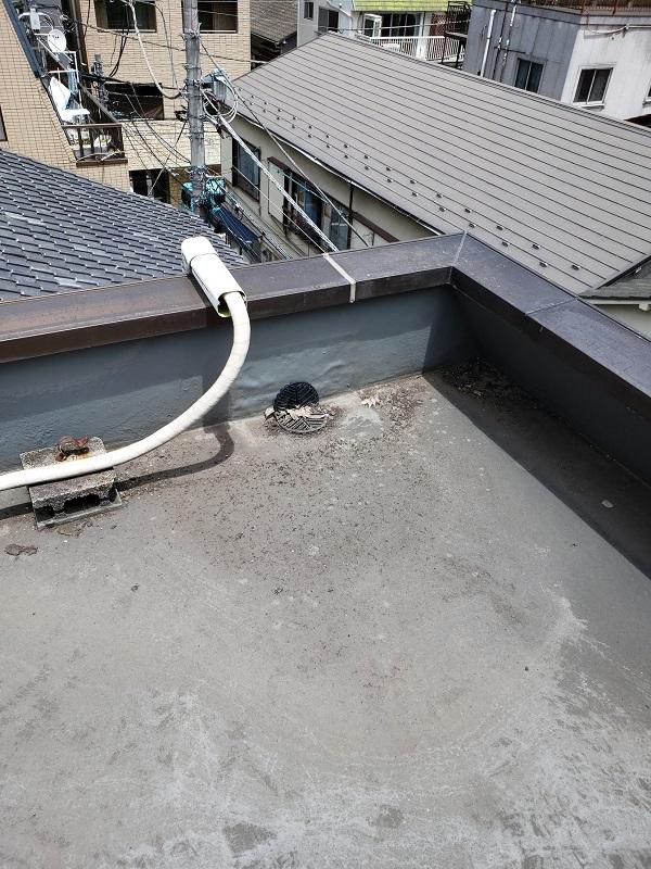 東京都中野区 防水工事 事前調査 排水口の詰まり (1)