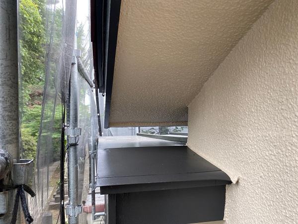 東京都杉並区 下屋葺き替え工事 外壁塗装 雨樋交換 ガルバリウム鋼板 貫板 棟板金 (4)