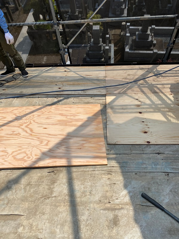 東京都杉並区 下屋葺き替え工事 外壁塗装 雨樋交換 バイオ洗浄 (2)