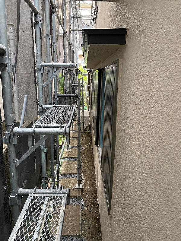 東京都杉並区 下屋葺き替え工事 外壁塗装 雨樋交換 下塗り・中塗り・上塗り 水谷ペイント ナノコンポジットW