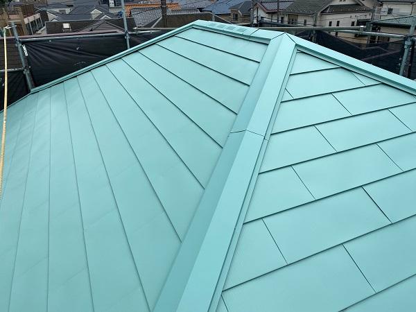 東京都杉並区 屋根葺き替え工事 ガルバリウム鋼板 定期訪問サポート (4)