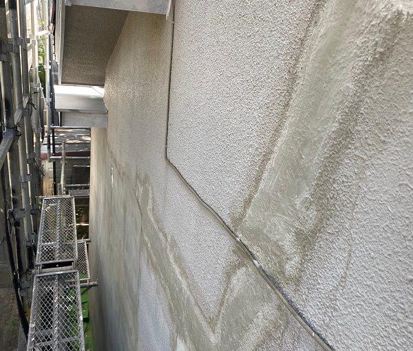 東京都杉並区 下屋葺き替え工事 外壁塗装 雨樋交換 ひび割れ(クラック)補修