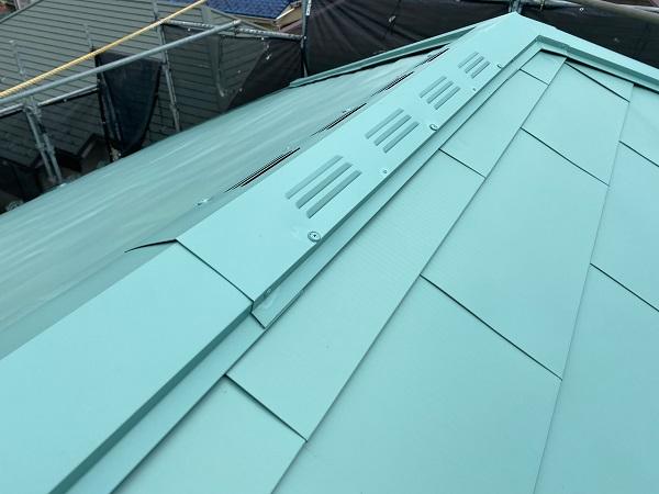 東京都杉並区 屋根葺き替え工事 ガルバリウム鋼板 定期訪問サポート (2)