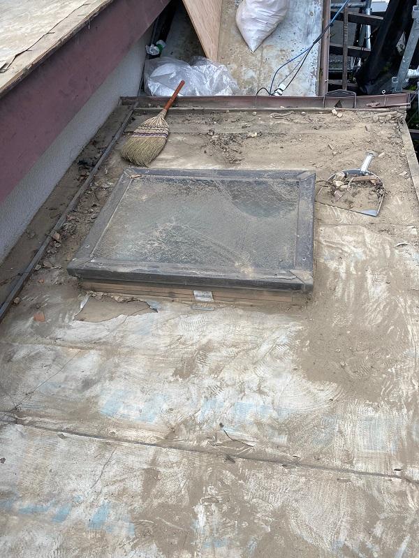 東京都杉並区 下屋葺き替え工事 外壁塗装 雨樋交換 バイオ洗浄 (1)