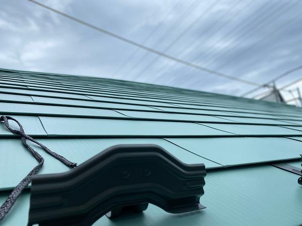 東京都杉並区 屋根葺き替え工事 ガルバリウム鋼板 定期訪問サポート (1)