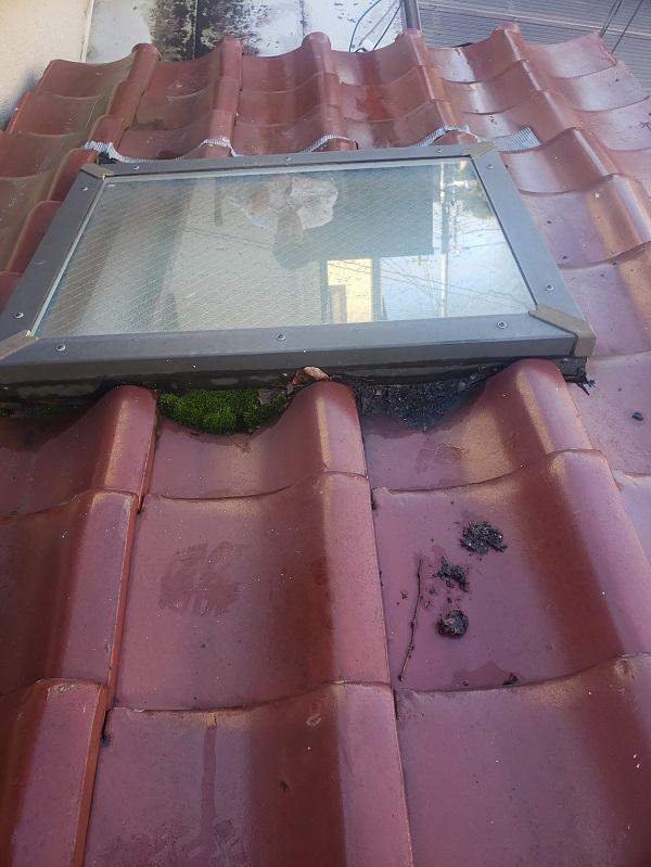 東京都杉並区 下屋葺き替え工事 外壁塗装 雨樋交換 バイオ洗浄 (8)