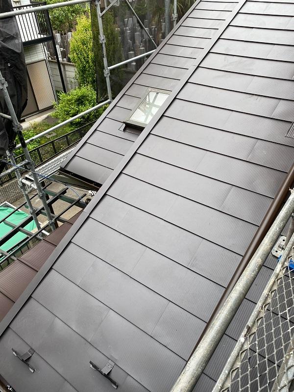 東京都杉並区 下屋葺き替え工事 外壁塗装 雨樋交換 完工 定期訪問サポート (5)