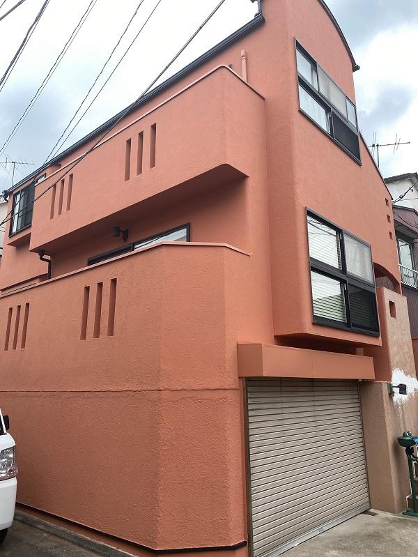 東京都世田谷区 外壁塗装・屋根葺き替え工事・付帯部塗装 完工 定期訪問サポート (1)