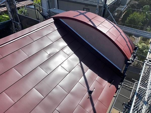 東京都世田谷区 外壁塗装・屋根葺き替え工事・付帯部塗装 ガルバリウム鋼板 (3)