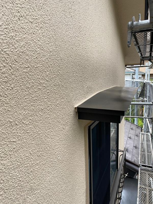 東京都杉並区 下屋葺き替え工事 外壁塗装 雨樋交換 完工 定期訪問サポート (2)
