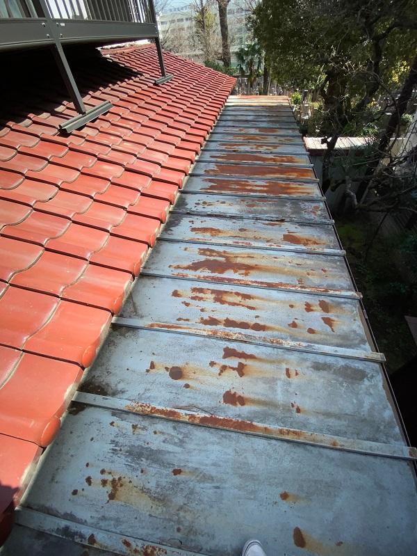 東京都杉並区 下屋葺き替え工事 外壁塗装 雨樋交換 バイオ洗浄 (6)
