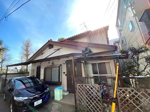東京都杉並区 下屋葺き替え工事 外壁塗装 雨樋交換 バイオ洗浄 (12)
