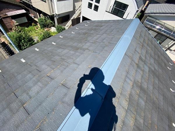 東京都杉並区 屋根カバー工法(重ね葺き工事)・コーキング工事 屋根材の劣化 屋根のリフォーム方法 (3)