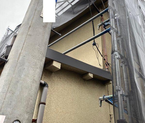 東京都杉並区 屋根カバー工法(重ね葺き工事)・コーキング工事 近隣の方々へのご挨拶 足場の設置・足場の重要性