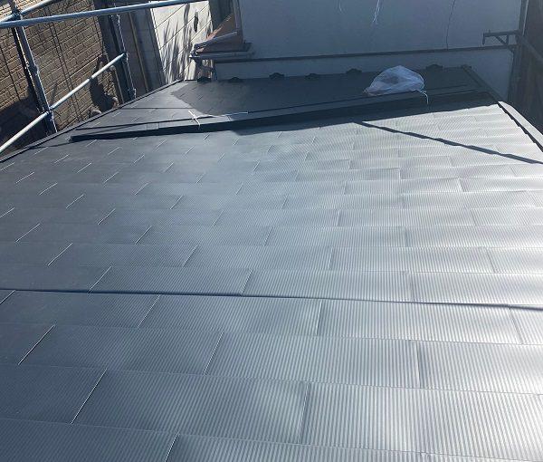 東京都中野区 屋根葺き替え工事 ガルバリウム鋼板 貫板 棟板金 スクリュービス (4)