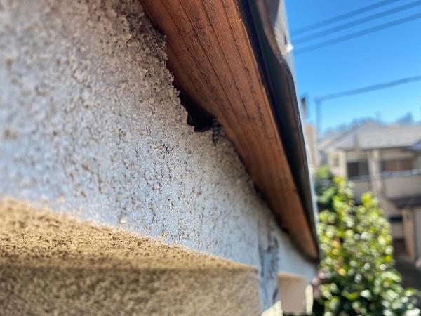 東京都杉並区 屋根カバー工法(重ね葺き工事)・コーキング工事 破風板廻りのコーキング劣化による雨漏り ブリード現象 (6)