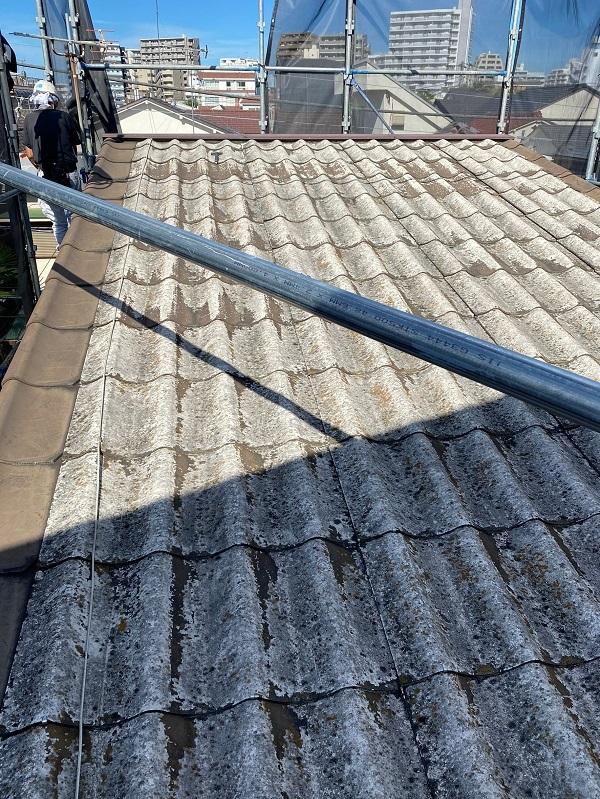 東京都中野区 屋根葺き替え工事 施工前の屋根の状態 無料調査 屋根のリフォーム方法 (1)