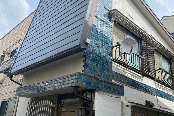 東京都中野区 屋根葺き替え工事 ガルバリウム鋼板 貫板 棟板金 スクリュービス (5)