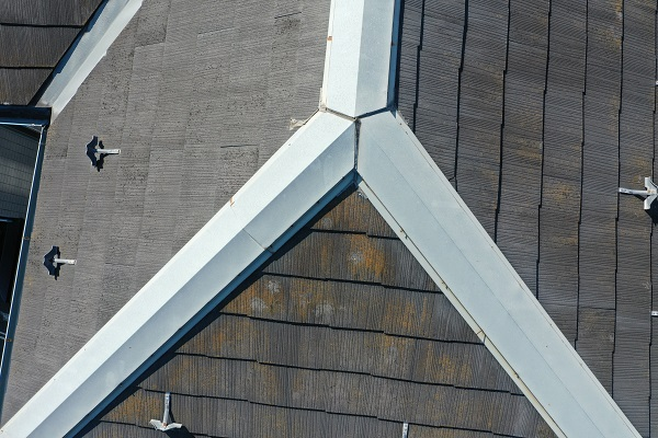 東京都中野区 屋根塗装 現場調査① ドローンを使っての調査 化粧スレート・コロニアル・カラーベストとは (3)