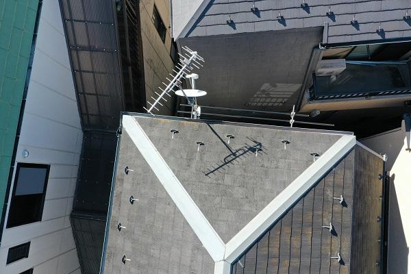 東京都中野区 屋根塗装 現場調査② カビの恐ろしさ 急勾配の屋根4
