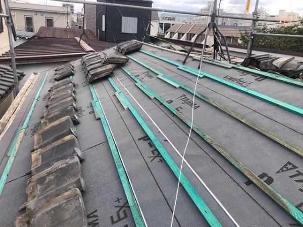 東京都中野区 H様邸 瓦屋根・漆喰工事 桟木とは シルガード 南蛮漆喰 (6)