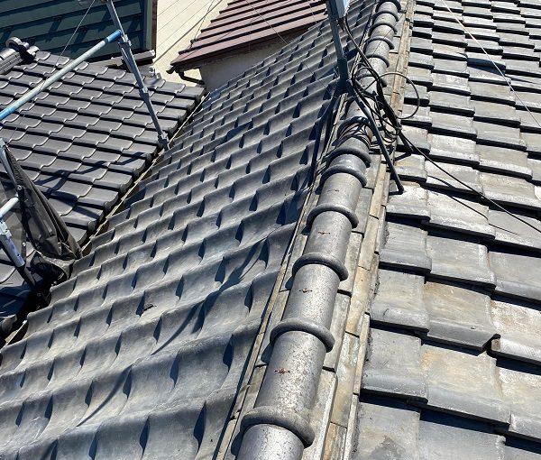 東京都中野区 H様邸 瓦屋根・漆喰工事 桟木とは シルガード 南蛮漆喰 (2)