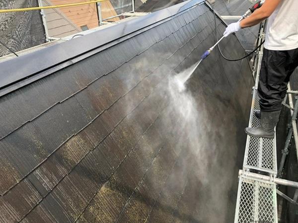 東京都世田谷区 外壁・屋根塗装等外装リフォーム 高圧洗浄~養生 家庭用と業務用高圧洗浄機の違い
