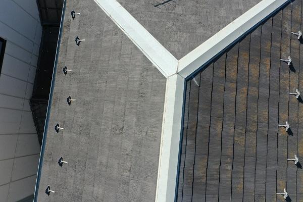 東京都中野区 屋根塗装 現場調査① ドローンを使っての調査 化粧スレート・コロニアル・カラーベストとは (2)