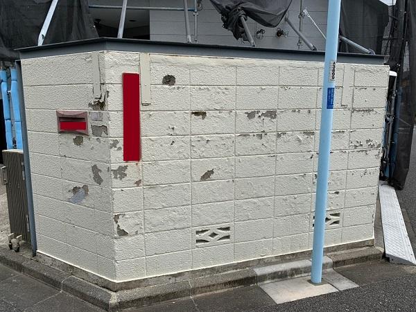 東京都練馬区 K様邸 屋根塗装 ブロック塀塗装 化粧スレート屋根 (1)