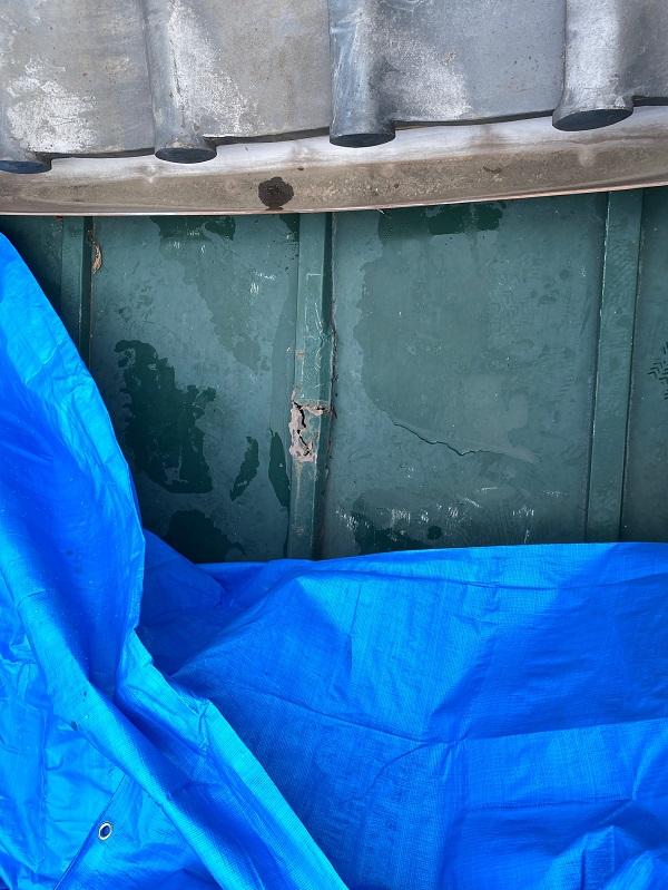 東京都豊島区 T様邸 屋根葺き替え工事 雨漏り 瓦棒屋根 施工前② (2)