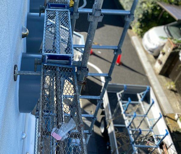 東京都練馬区 K様邸 屋根塗装 ブロック塀塗装 近隣の方へのご挨拶 足場設置 (2)