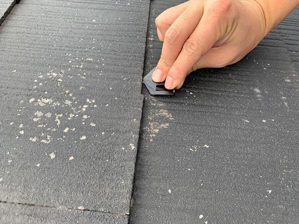 東京都練馬区 K様邸 屋根塗装 ブロック塀塗装 縁切り タスペーサーの設置 (2)