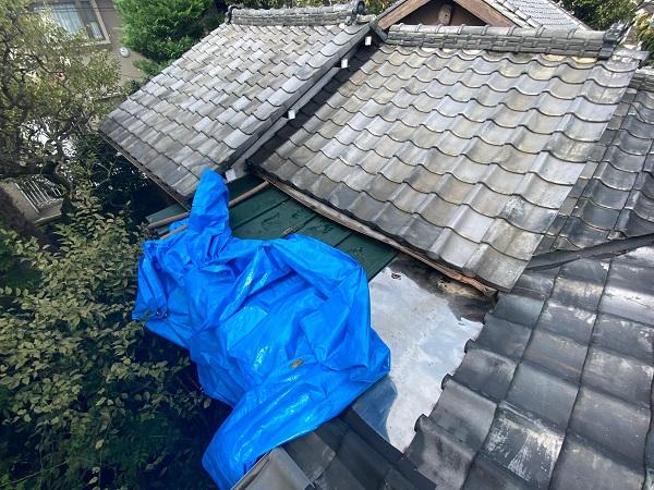 東京都豊島区 T様邸 屋根葺き替え工事 雨漏り 瓦棒屋根 施工前② (6)