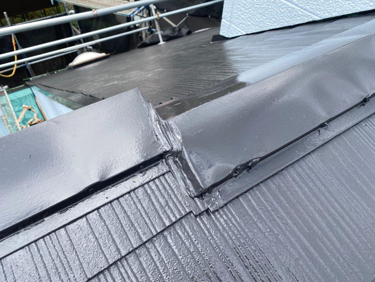 東京都練馬区 K様邸 屋根塗装 ブロック塀塗装 日本ペイント ラジカル制御型塗料 パーフェクトトップ (2)