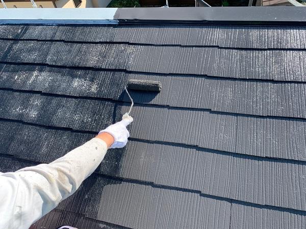 東京都練馬区 K様邸 屋根塗装 ブロック塀塗装 中塗り 重ね塗りの理由 (4)