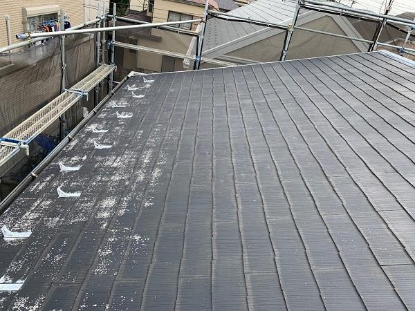 東京都練馬区 K様邸 屋根塗装 ブロック塀塗装 化粧スレート屋根 (2)