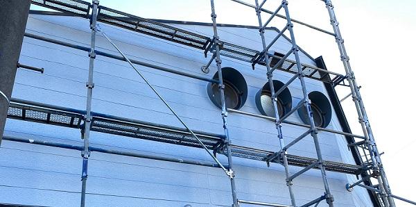 東京都練馬区 K様邸 屋根塗装 ブロック塀塗装 近隣の方へのご挨拶 足場設置 (1)